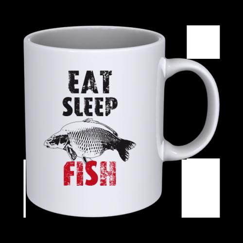 Keramický hrnček Eat Sleep Fish